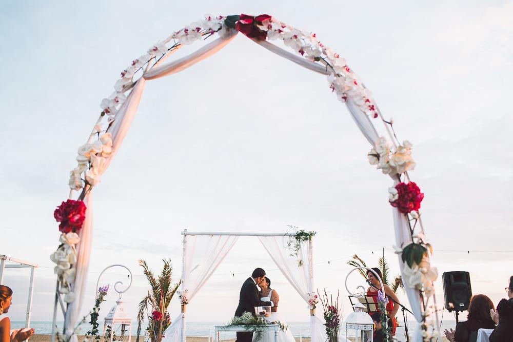 boda en playa de el rompido